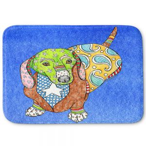 Decorative Bathroom Mats | Marley Ungaro - Dachshund Dog Blue