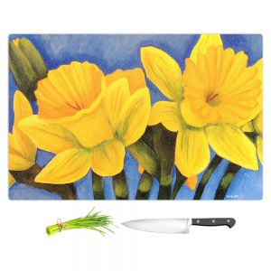 Artistic Kitchen Bar Cutting Boards | Marley Ungaro - Daffodils | Flower still life close up