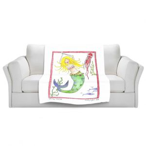 Artistic Sherpa Pile Blankets | Marley Ungaro Dancing Mermaid