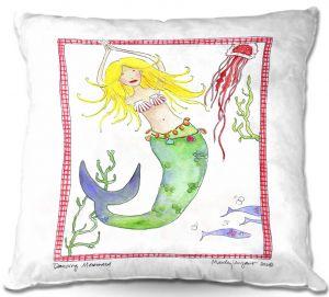 Throw Pillows Decorative Artistic | Marley Ungaro Dancing Mermaid
