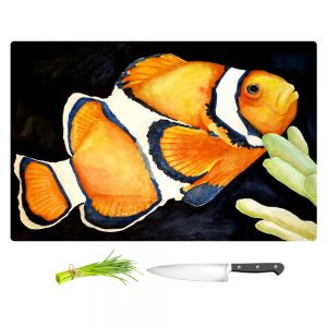 Artistic Kitchen Bar Cutting Boards | Marley Ungaro - Deep Sea Life - Clown Fish