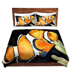 Artistic Duvet Covers and Shams Bedding   Marley Ungaro - Deep Sea Life- Clown Fish