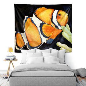 Artistic Wall Tapestry | Marley Ungaro Deep Sea Life - Clown Fish