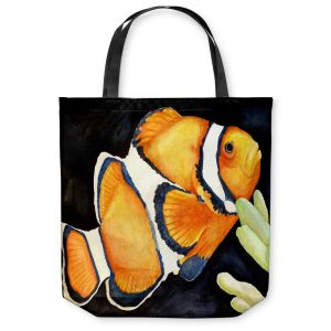Unique Shoulder Bag Tote Bags | Marley Ungaro Deep Sea Life - Clown Fish