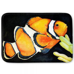 Decorative Bathroom Mats | Marley Ungaro - Deep Sea Life- Clown Fish