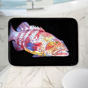 Decorative Bathroom Mats   Marley Ungaro - Deep Sea Life- Grouper Fish