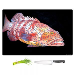 Artistic Kitchen Bar Cutting Boards | Marley Ungaro - Deep Sea Life - Grouper Fish