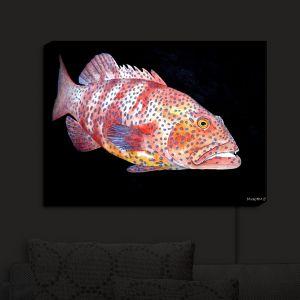 Nightlight Sconce Canvas Light | Marley Ungaro's Deep Sea Life - Grouper Fish