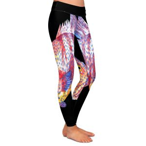 Casual Comfortable Leggings | Marley Ungaro Deep Sea Life - Grouper Fish