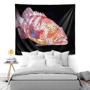 Artistic Wall Tapestry | Marley Ungaro Deep Sea Life - Grouper Fish
