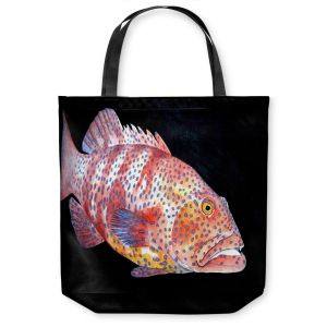 Unique Shoulder Bag Tote Bags | Marley Ungaro Deep Sea Life - Grouper Fish