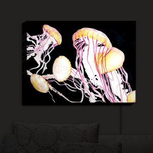 Nightlight Sconce Canvas Light | Marley Ungaro's Deep Sea Life - Jelly Fish
