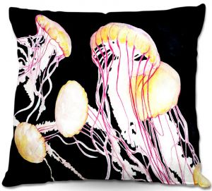 Throw Pillows Decorative Artistic | Marley Ungaro's Deep Sea Life- Jelly Fish