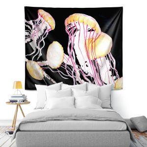 Artistic Wall Tapestry | Marley Ungaro Deep Sea Life - Jelly Fish