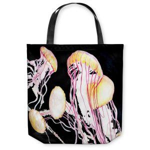 Unique Shoulder Bag Tote Bags | Marley Ungaro Deep Sea Life - Jelly Fish