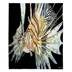 Artistic Sherpa Pile Blankets | Marley Ungaro Deep Sea Life - Lion Fish