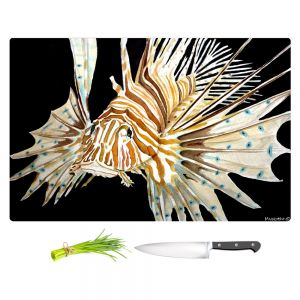 Artistic Kitchen Bar Cutting Boards | Marley Ungaro - Deep Sea Life - Lion Fish