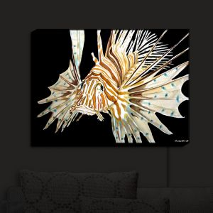 Unique Illuminated Wall Art 20 x 16 from DiaNoche Designs by Marley Ungaro - Deep Sea Life Lion Fish