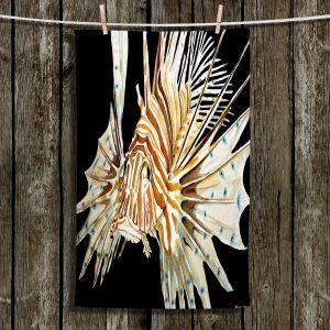 Unique Hanging Tea Towels | Marley Ungaro - Deep Sea Life- Lion Fish | Tropical Fish