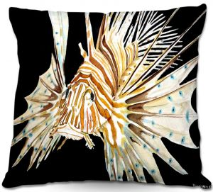 Throw Pillows Decorative Artistic | Marley Ungaro's Deep Sea Life- Lion Fish