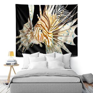 Artistic Wall Tapestry | Marley Ungaro Deep Sea Life - Lion Fish