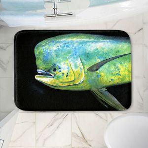 Decorative Bathroom Mats   Marley Ungaro - Deep Sea Life- Mahi Mahi Fish