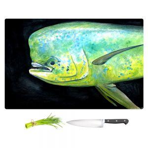 Artistic Kitchen Bar Cutting Boards | Marley Ungaro - Deep Sea Life - Mahi Mahi Fish