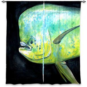 Decorative Window Treatments | Marley Ungaro Deep Sea Life - Mahi Mahi Fish