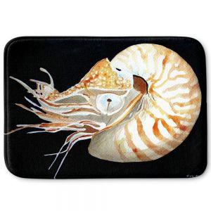 Decorative Bathroom Mats | Marley Ungaro - Deep Sea Life- Nautilus