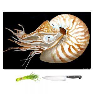 Artistic Kitchen Bar Cutting Boards | Marley Ungaro - Deep Sea Life - Nautilus