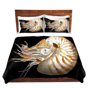 Artistic Duvet Covers and Shams Bedding | Marley Ungaro - Deep Sea Life- Nautilus