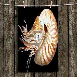 Unique Hanging Tea Towels | Marley Ungaro - Deep Sea Life- Nautilus | Sea Creature