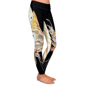 Casual Comfortable Leggings | Marley Ungaro Deep Sea Life - Nautilus