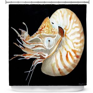 Premium Shower Curtains | Marley Ungaro Deep Sea Life - Nautilus