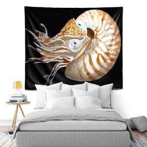 Artistic Wall Tapestry | Marley Ungaro Deep Sea Life - Nautilus
