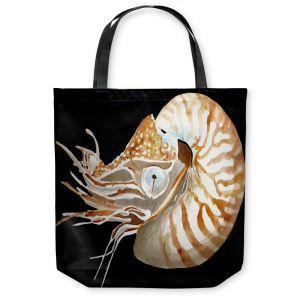 Unique Shoulder Bag Tote Bags | Marley Ungaro Deep Sea Life - Nautilus