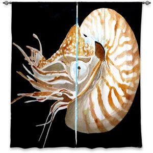 Decorative Window Treatments | Marley Ungaro Deep Sea Life - Nautilus
