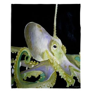 Decorative Fleece Throw Blankets | Marley Ungaro - Deep Sea Life - Octopus