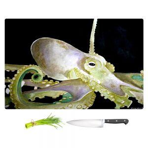 Artistic Kitchen Bar Cutting Boards | Marley Ungaro - Deep Sea Life - Octopus