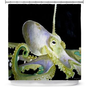Premium Shower Curtains | Marley Ungaro Deep Sea Life - Octopus