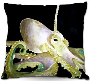 Throw Pillows Decorative Artistic | Marley Ungaro's Deep Sea Life- Octopus