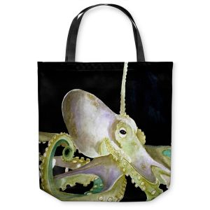 Unique Shoulder Bag Tote Bags | Marley Ungaro Deep Sea Life - Octopus