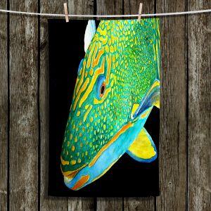 Unique Bathroom Towels | Marley Ungaro - Deep Sea Life- Parrot Fish