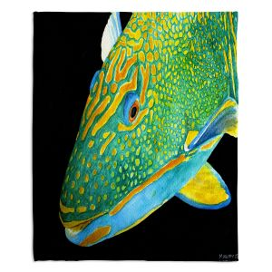 Artistic Sherpa Pile Blankets | Marley Ungaro Deep Sea Life - Parrot Fish