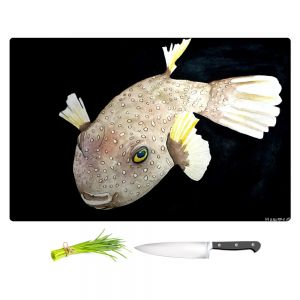 Artistic Kitchen Bar Cutting Boards | Marley Ungaro - Deep Sea Life - Puffer Fish