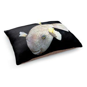 Decorative Dog Pet Beds | Marley Ungaro's Deep Sea Life- Puffer Fish