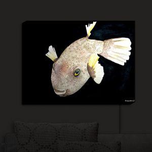 Nightlight Sconce Canvas Light | Marley Ungaro's Deep Sea Life - Puffer Fish