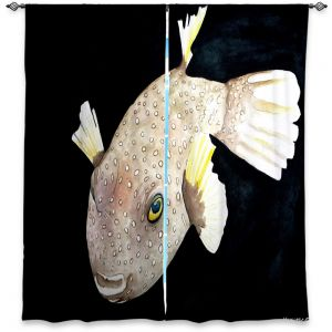 Decorative Window Treatments | Marley Ungaro Deep Sea Life - Puffer Fish