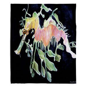 Artistic Sherpa Pile Blankets | Marley Ungaro Deep Sea Life - Sea Dragon
