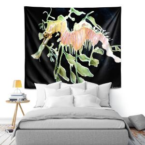 Artistic Wall Tapestry | Marley Ungaro Deep Sea Life - Sea Dragon